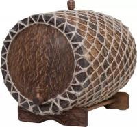 Бочка дубовая состаренная 150 л. в оплетке, вощеная